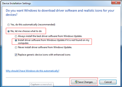 Change Windows Default Camera Driver Search Location To Avoid